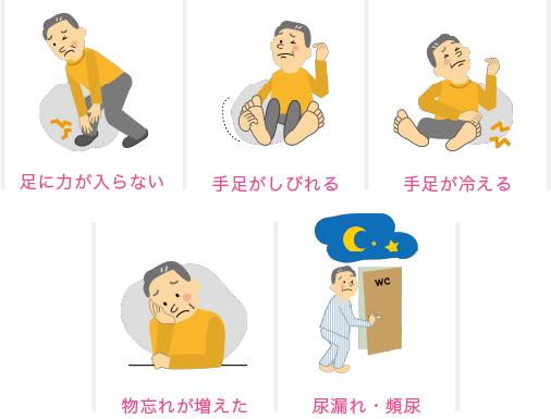 歩行障害のほか、このような症状はありませんか?